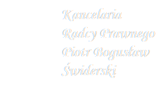 Kancelaria Radcy Prawnego Piotr Bogusław Świderski